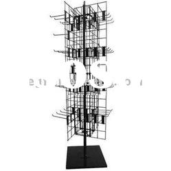 4 Way Hair Accessories Display Stand with Sign Holder