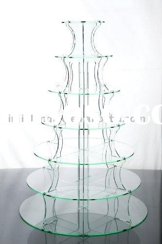 7 tier acrylic cupcake stand holder or acrylic wedding cake stand