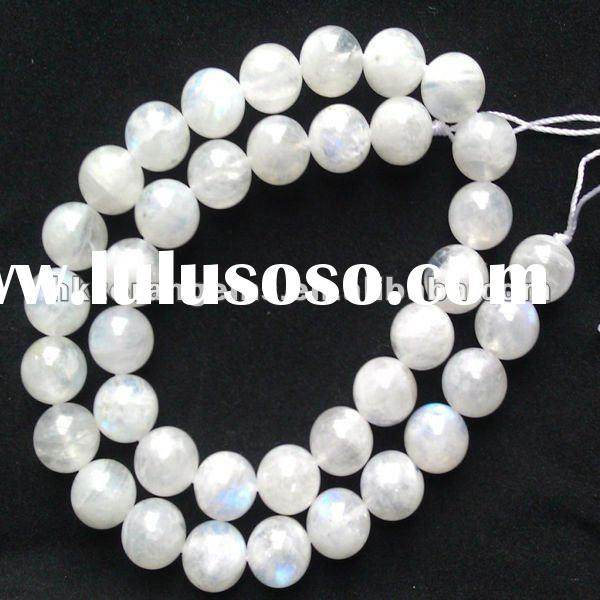8mm round white moonstone natural gemstone loose beads