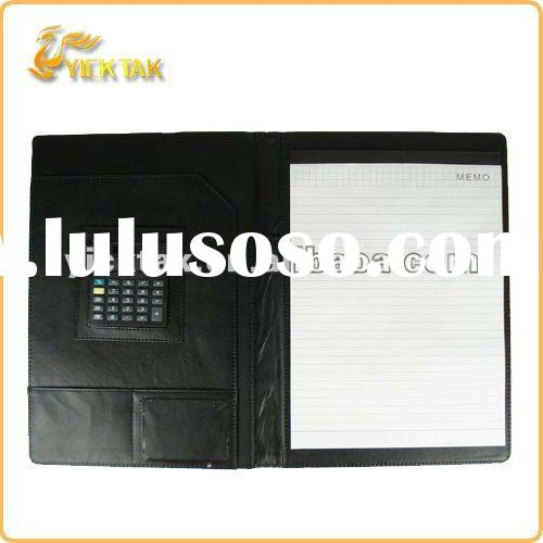 A4 Folder with calculator and memo pad PF115