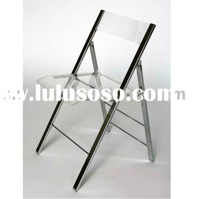 Acrylic Chair, Perspex Foldable Chair, Plexiglass Furniture