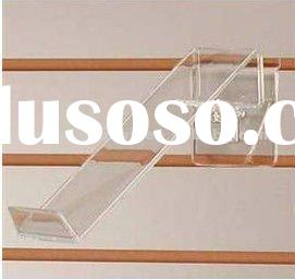 Acrylic Toe Hold Swivel Shoe Display For Slatwall