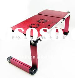 Adjustable Laptop Table with cooling fan and mouse pad DL-106