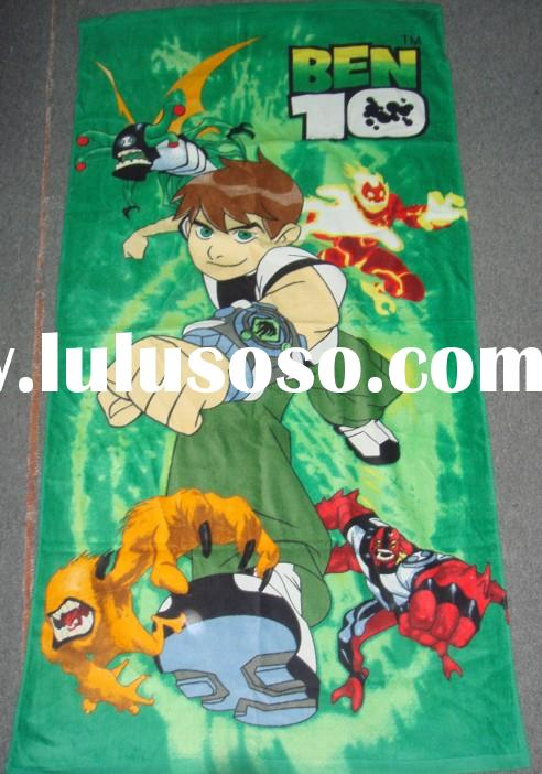 BEN10 BATH TOWEL*CARTOON BATH TOWEL*reactive printed beach towel