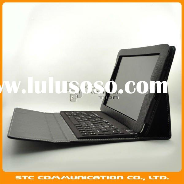 Brown Bluetooth wireless Keyboard for samsung galaxy tab 10.1 P7510, Stand case with bluetooth keybo