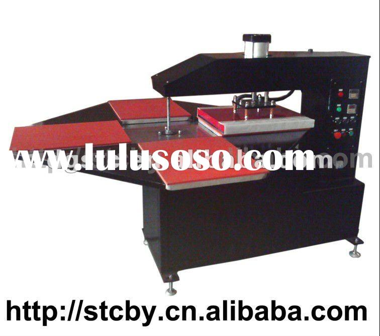 CE four stations 4-color t shirt screen printing machine