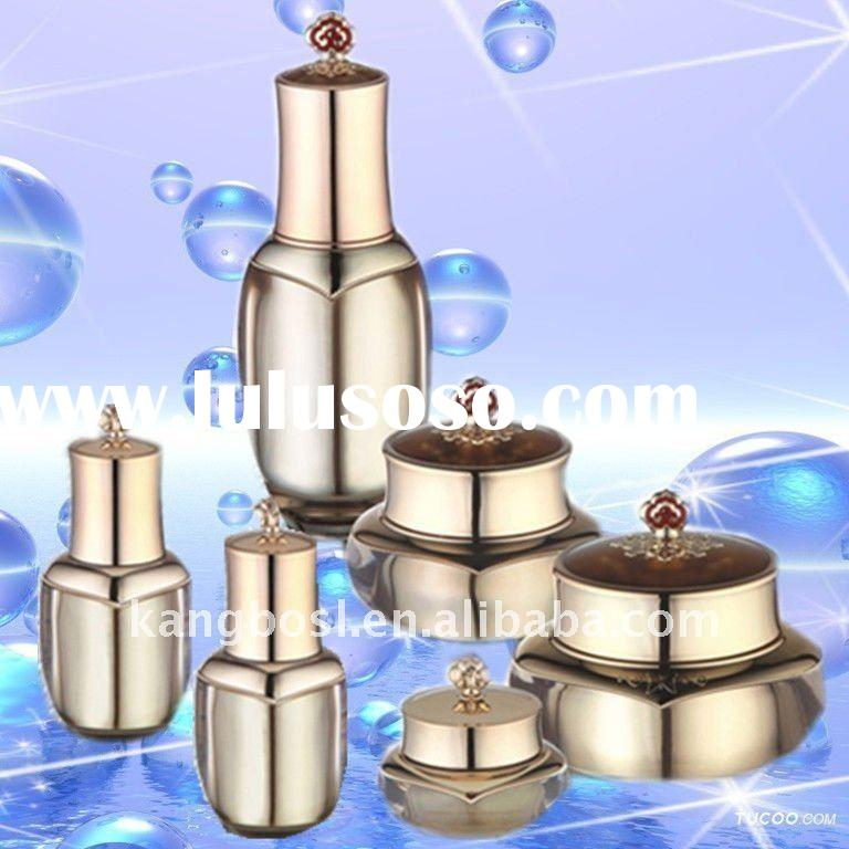 Cosmetic Plastic Packing Jars and Bottles