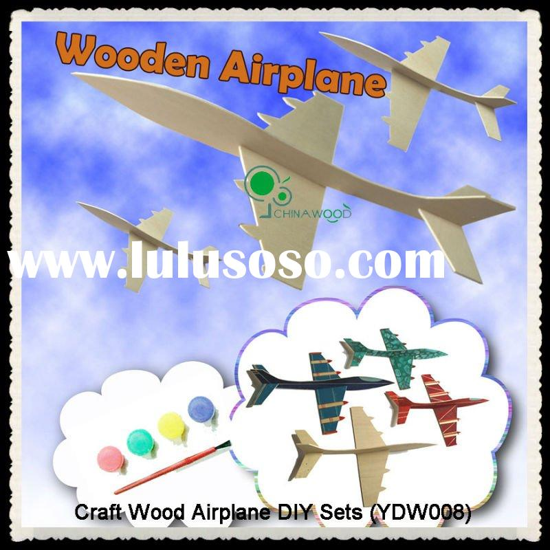 DIY Wood Airplane Craft Kits with Acrylic Paint