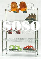 DIY /wire shelving/shoe rack/metal shoe rack/display shelf/shoe shelves