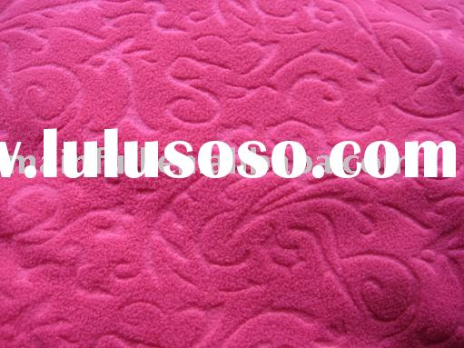 DTY polar fleece fabric embossed(wholesale fleece )