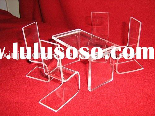 Decent Acrylic Dining Table Sets, Water Clear Acrylic Dining Table And Chairs