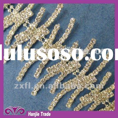 Decorative Crystal Rhinestone Chain Trimming in Wholesale