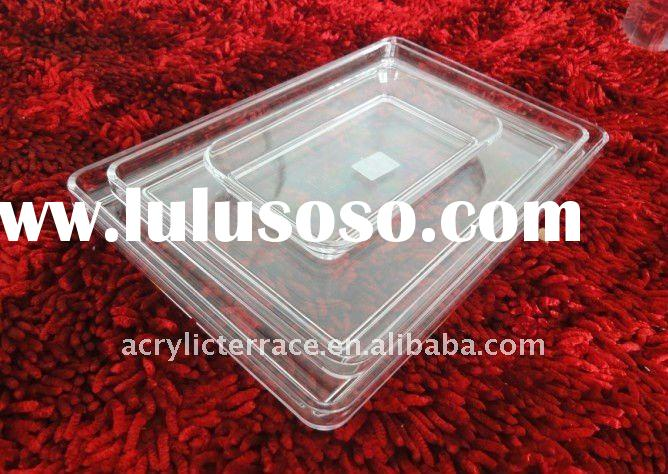 Different Size Crystal Hotel Serving Tray