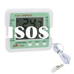 Digital Indoor / Outdoor Thermometer & Humidity with Clock / Alarm / Calendar