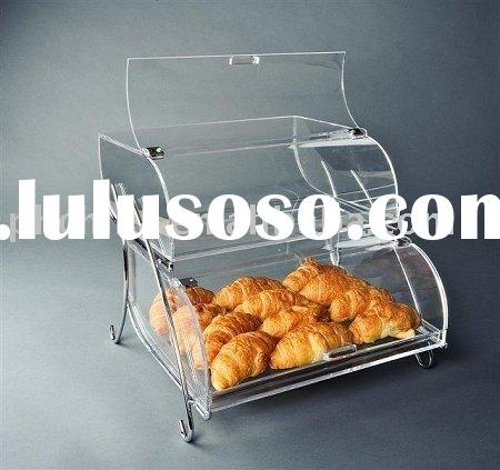 Double Tier Acrylic Pastry Display Case,Acrylic Bakery display,Acrylic Cake Display Case SCB-112