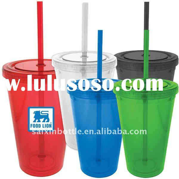 Double walled Acrylic tumbler glass and plastic cup beer mug 0314