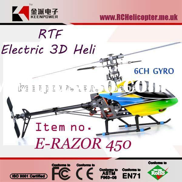 Dynam E-RAZOR 450 Carbon Version 6 Channel 2.4Ghz Radio Control Helicopter