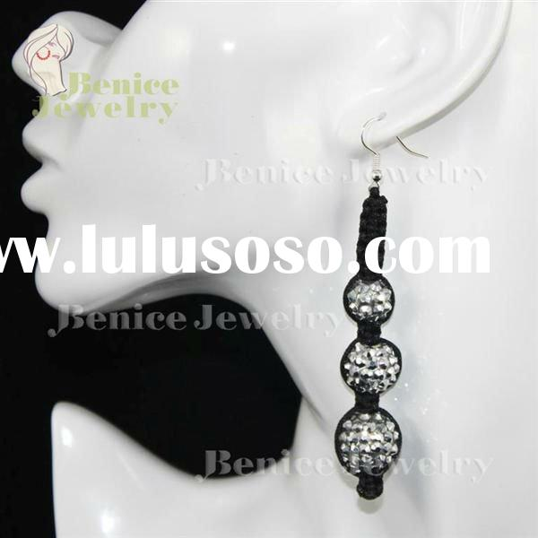 EB20324 resin beads with rhinestone earrings wholesale shamballa jewelry kashmiri jhumka earrings