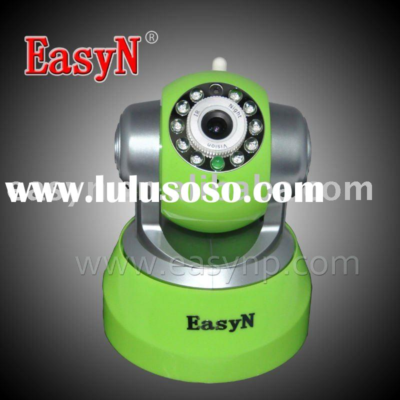 EasyN Pan Tilt wireless IP camera with two way audio