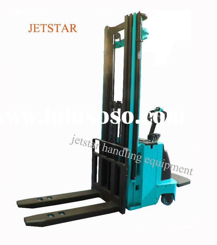 Electric Stacker   Pallet Stacker with stand-on platform