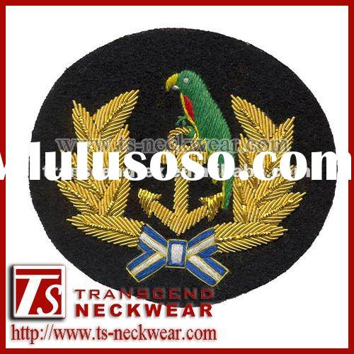 Embroidered Patches,Hand Embroidery Patches,Cap Badges,blazer badges,Bullion Wire Badge