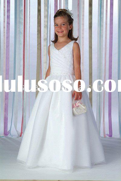 FG016 chiffon flower girl dress,princess flower girl dress