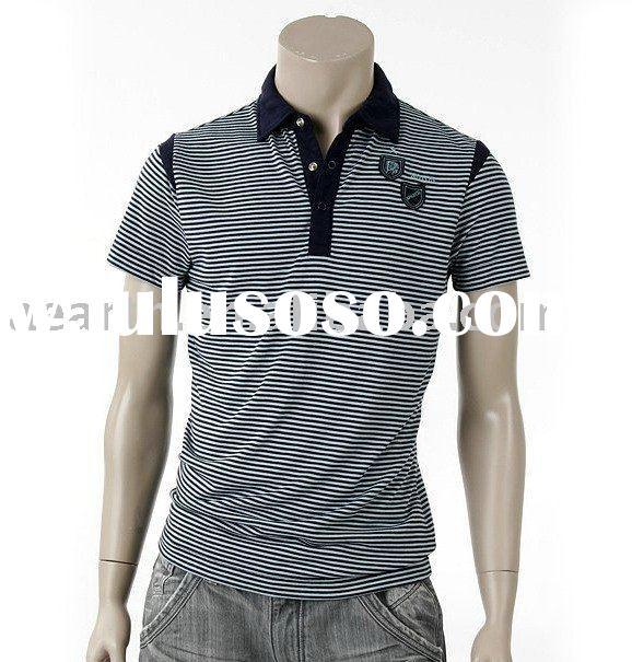 Fashion man polo t shirt with stripe