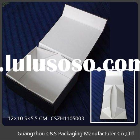 Folding Gift Paper Box Wrapped With Paper Or Leather