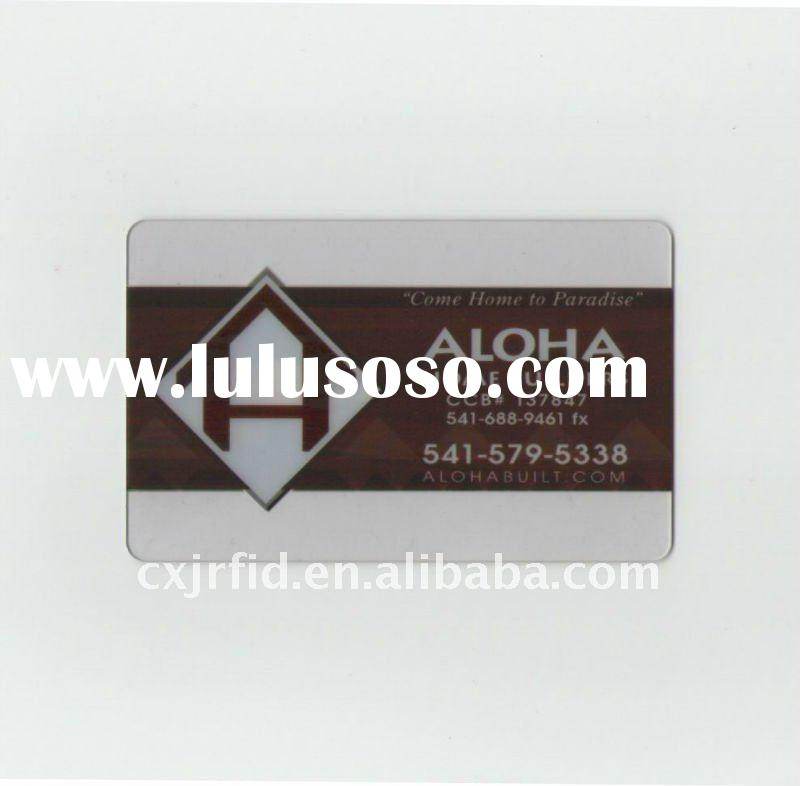 Frosted transparent/clear pvc business/name card