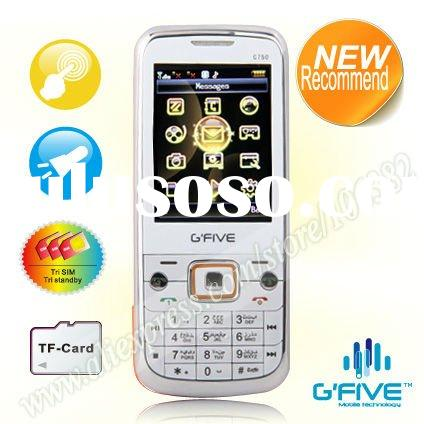 G'FIVE C750 is a practical 3 sim 3 standby 2.4 inch QVGA GFIVE touch screen mobile phone