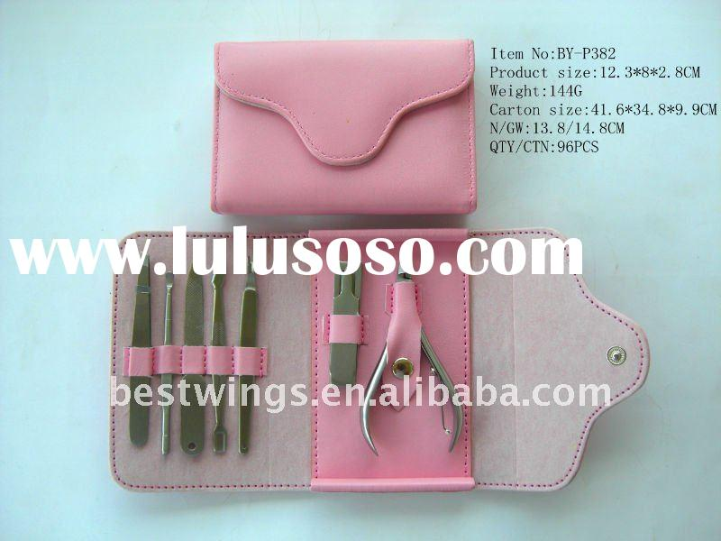 Girl Style Pink Durable Mini Manicure and Pedicure Set