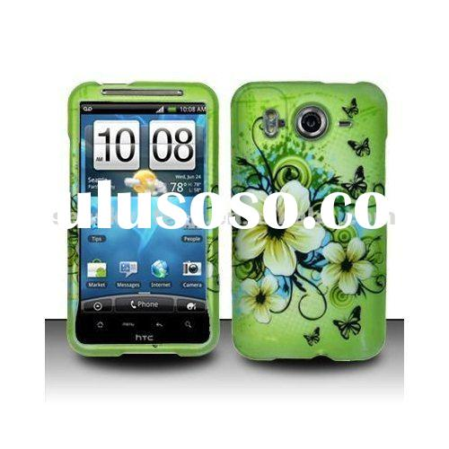 Green Hawaiin Flowers Hard Cover Case for HTC Droid Incredible 2 / Droid Incredible S / 6350