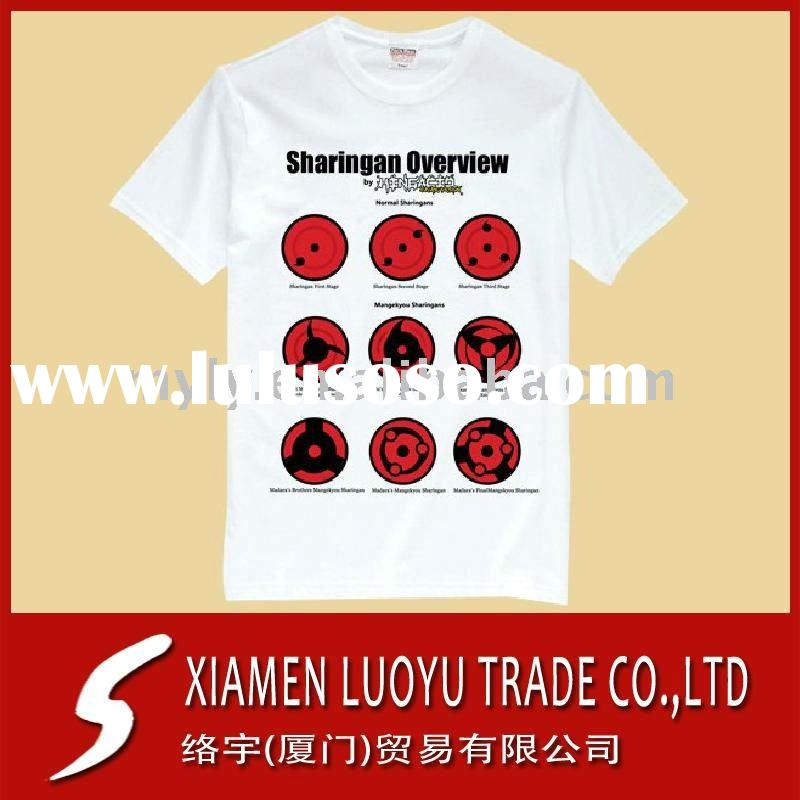 Heat Tanfer Printing 100% cotton tall t-shirts 180G White in China 2011