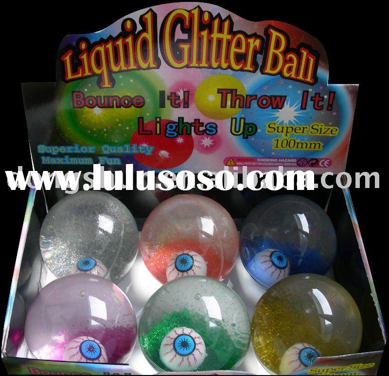 Hi bounce glitter water ball/bouncing ball