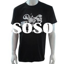 High quality black cheap t shirts 100% cotton