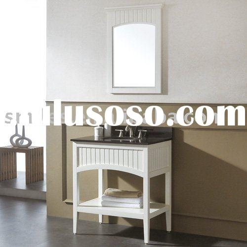 Hot sale white solid wood bathroom vanity cabinet set