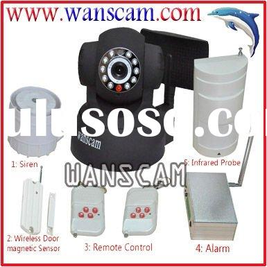 IP Camera with Wireless Alarm System and Sensors