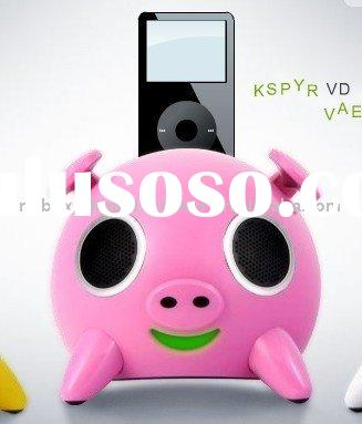 I Pig Mini Speaker for iPod with FM radio with USB with SD card
