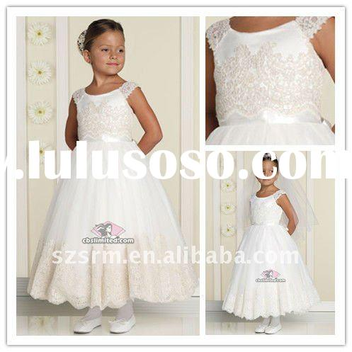 Ivery Cheap A-line Hot Lace Applique Girls Party Dresses Flower Girls' Dresses