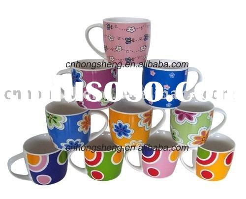 Kid's Porcelain Mug with Flower Design for Milk Mug for Soup Mug