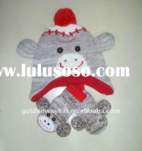Knitted and warmly animal winter hats for children