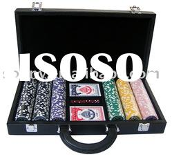Leather Poker Chip Game Set