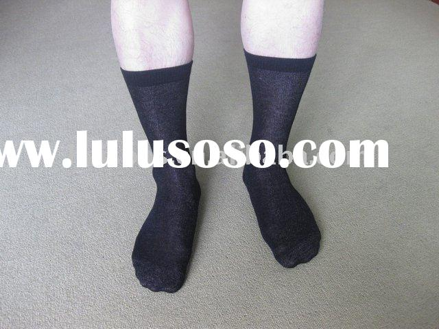 Long ankle cotton diabetic socks