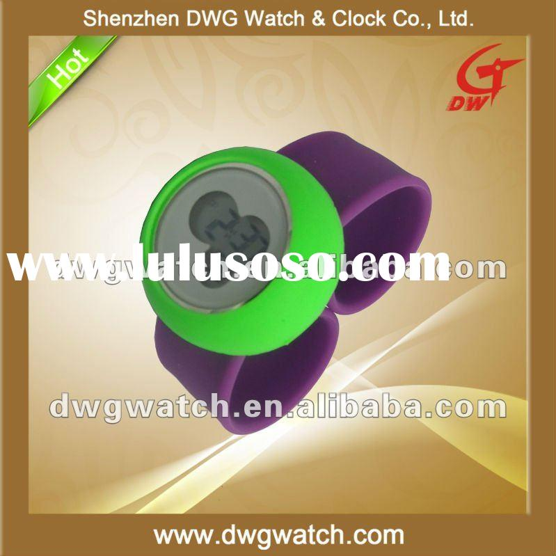 Muticolor Digital Watch with Slap Strap and Promotional Price DWG--R0075-2