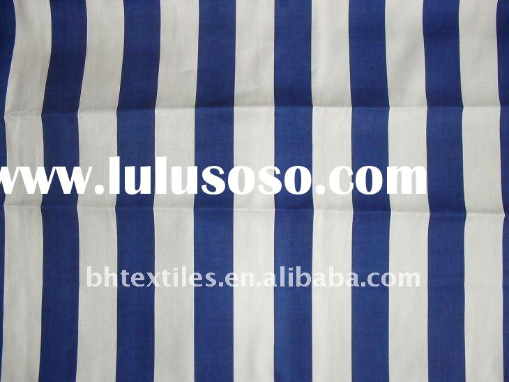 Navy blue and white stripe fabric