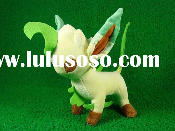 "New Pokemon LEAFEON 9.5"" Plush Toy Soft Doll Action Figure Free Shipping Paypal"