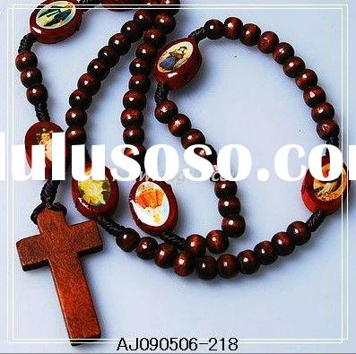 New Wooden Rosary Necklace,Wood Rosary,Wooden beads Necklace