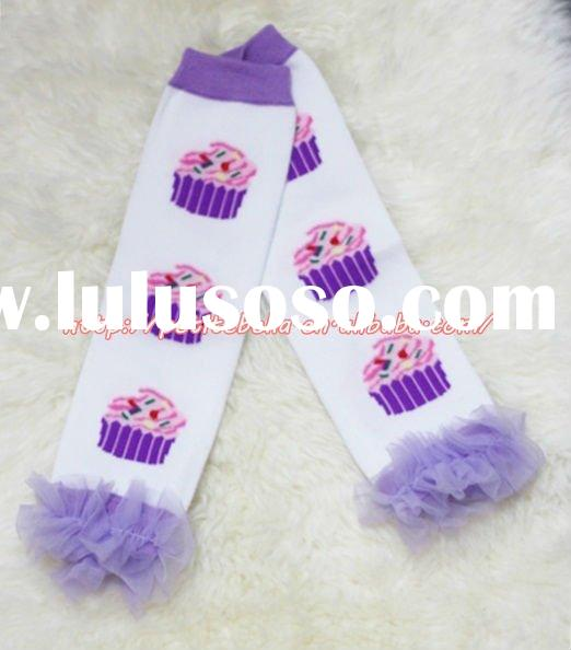 Newborn Baby Lavender Birthday Cake Leg Warmers Leggings with Various Ruffles MALG124