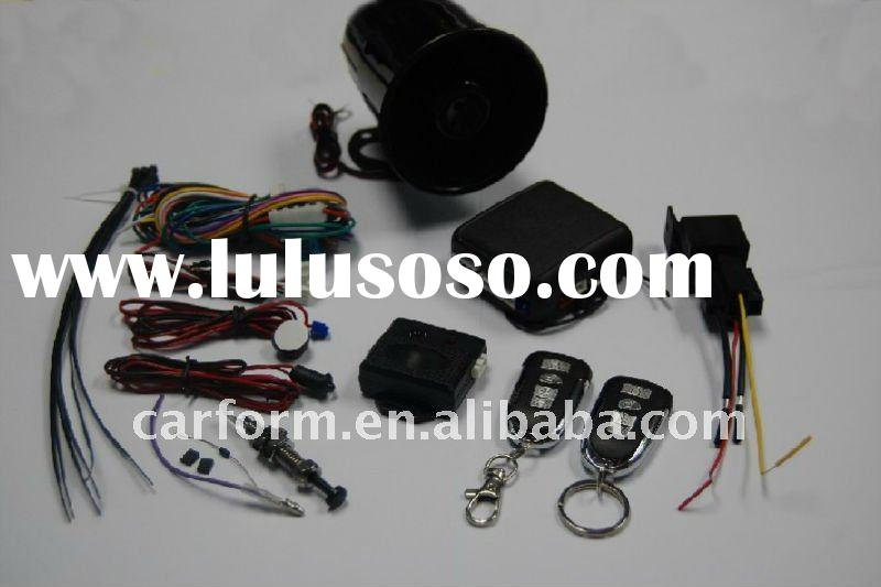 One way car alarm system with Spanish manual, super small main unit, South Amercian alarm
