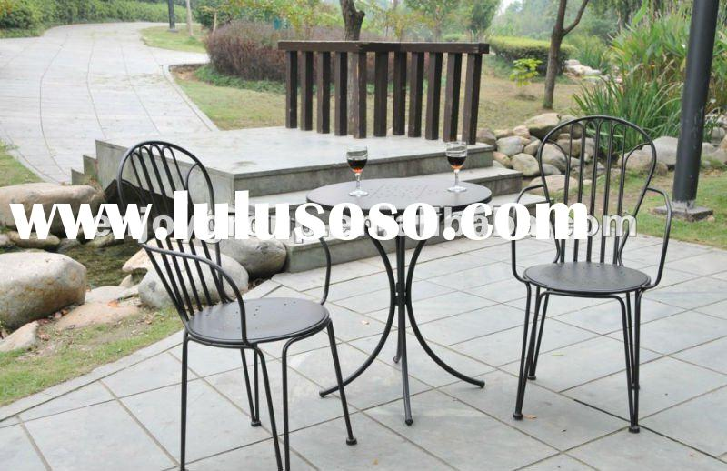 Outdoor table and chairs wrought iron